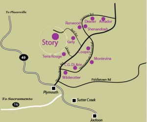 Amador County Winery Map